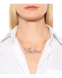 Valentino - Metallic Crystal-embellished Necklace - Lyst