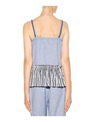 Lemlem - Blue Amara cotton-blend printed camisole - Lyst