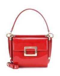 Roger Vivier - Red Miss Viv' Carré Patent Leather Shoulder Bag - Lyst