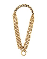Balenciaga - Metallic Chain-link Necklace - Lyst