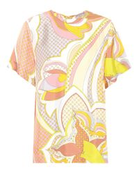 Emilio Pucci - Yellow Printed Silk Top - Lyst