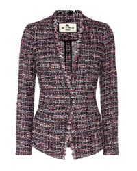 Etro - Purple Tweed Jacket - Lyst