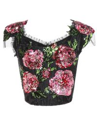 Dolce & Gabbana - Black Sequinned Top - Lyst