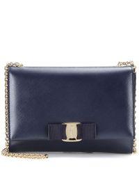 Ferragamo | Blue Ginny Small Leather Shoulder Bag | Lyst