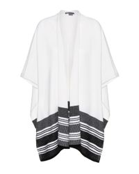 VINCE | White Wool And Cashmere-blend Poncho | Lyst
