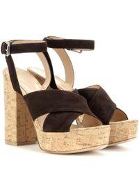 Gianvito Rossi | Black Mytheresa. Com Exclusive Suzie Suede Platform Sandals | Lyst