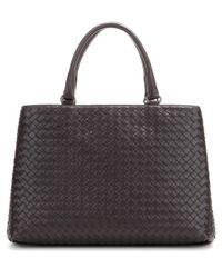 Bottega Veneta - Black Intrecciato Leather Tote - Lyst
