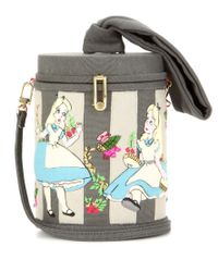 Olympia Le-Tan - Gray Alice Zephire Embroidered Shoulder Bag - Lyst
