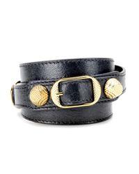 Balenciaga   Blue Giant Leather Bracelet   Lyst