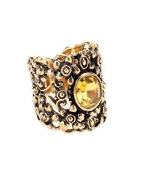 Gucci | Metallic Crystal Embellished Ring | Lyst