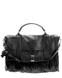 Proenza Schouler | Brown Ps1 Medium Fringe Leather Tote | Lyst