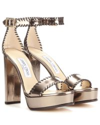 Jimmy Choo | Multicolor Holly 120 Platform Patent Leather Sandals | Lyst