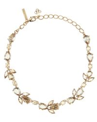 Oscar de la Renta - Metallic Crystal-embellished Necklace - Lyst