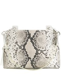 Christopher Kane - Gray Embossed Leather Shoulder Bag - Lyst