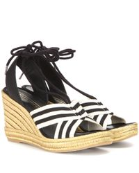 Marc Jacobs | Dani Metallic Wedge Espadrille Sandals | Lyst