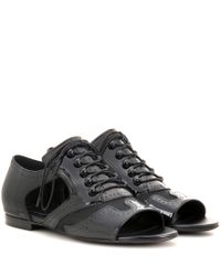 Givenchy - Natural Patent Leather Cut-out Brogues - Lyst