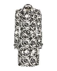 Burberry | Black Sandringham Printed Silk Trench Coat | Lyst