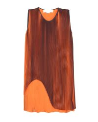 Stella McCartney - Orange Gigi Pleated Top - Lyst