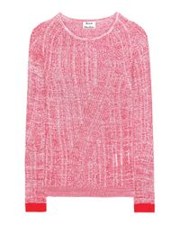 Acne Studios - Purple Marcy Cotton-blend Sweater - Lyst