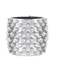 Tom Ford - Crystal-embellished Metallic Leather Cuff - Lyst