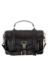Proenza Schouler | Black Ps1 Tiny Leather Tote | Lyst