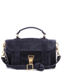 Proenza Schouler   Black Ps1 Tiny Suede Shoulder Bag   Lyst