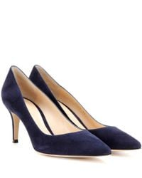 Gianvito Rossi - Blue Gianvito 70 Suede Pumps - Lyst