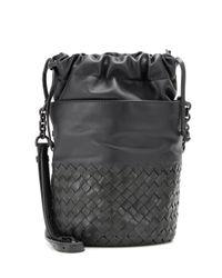 Bottega Veneta   Gray Small Bucket Leather Shoulder Bag   Lyst
