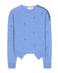 Stella McCartney | Blue Cashmere And Wool Sweater | Lyst