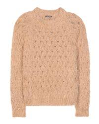 Balmain - Natural Angora-blend Sweater - Lyst