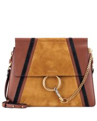 Chloé   Brown Faye Leather And Suede Shoulder Bag   Lyst