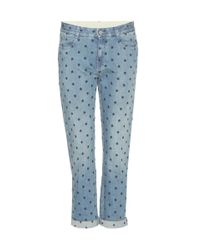 Stella McCartney - Blue Embroidered Jeans - Lyst