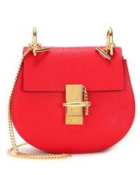 Chloé | Red Drew Mini Leather Shoulder Bag | Lyst