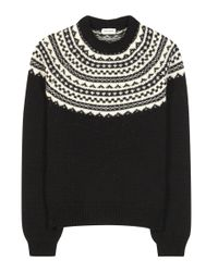 Saint Laurent | Black Wool Sweater | Lyst