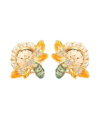 Dolce & Gabbana | Metallic Crystal-embellished Clip-on Earrings | Lyst