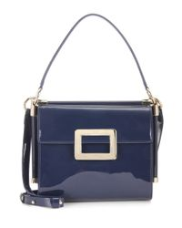 Roger Vivier | Blue Miss Viv' Carré Small Patent Leather Shoulder Bag | Lyst