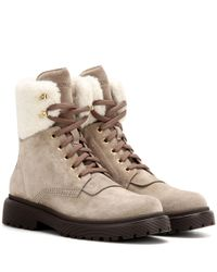 Moncler | Multicolor Patty Suede Ankle Boots | Lyst