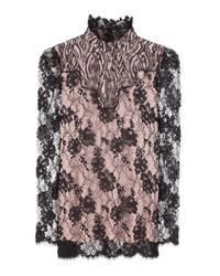 Lanvin - Multicolor Lace Blouse - Lyst