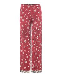 Etro - Red Printed Trousers - Lyst