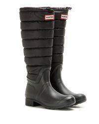 Hunter | Black Original Tall Quilted Leg Boots | Lyst