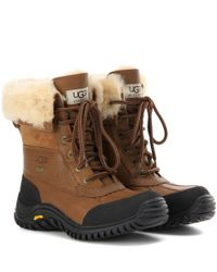 Ugg   Brown Adirondack Ii Fur-trimmed Leather Boots   Lyst