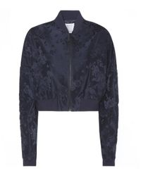Rosie Assoulin | Blue Cropped Jacquard Bomber Jacket | Lyst