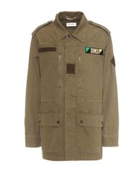 Saint Laurent | Green Love Cotton-blend Twill Jacket for Men | Lyst