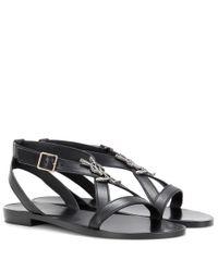Saint Laurent | Black Nu Pieds 05 Leather Sandals | Lyst