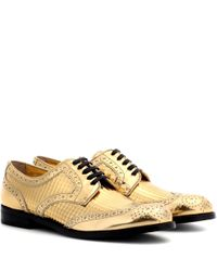 Dolce & Gabbana | Metallic Leather Derby Shoes | Lyst
