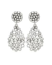Oscar de la Renta | Metallic Crystal-embellished Clip-on Earrings | Lyst