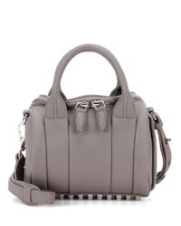 Alexander Wang | Gray Mini Rockie Leather Tote | Lyst