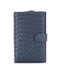 Bottega Veneta   Blue Continental Intrecciato Leather Wallet   Lyst