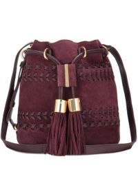 See By Chloé | Purple Vicki Small Suede And Leather Bucket Bag | Lyst