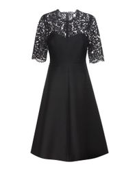 Valentino | Black Lace-panelled Dress | Lyst